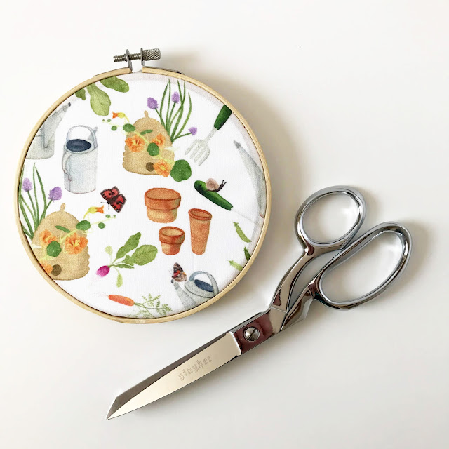 fabric design, garden themed fabric, gardening, Spoonflower, Anne Butera, My Giant Strawberry