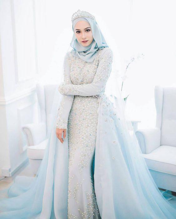 25+ Model Kebaya Pengantin Muslim Modern Terbaru 2018 5e5f163023