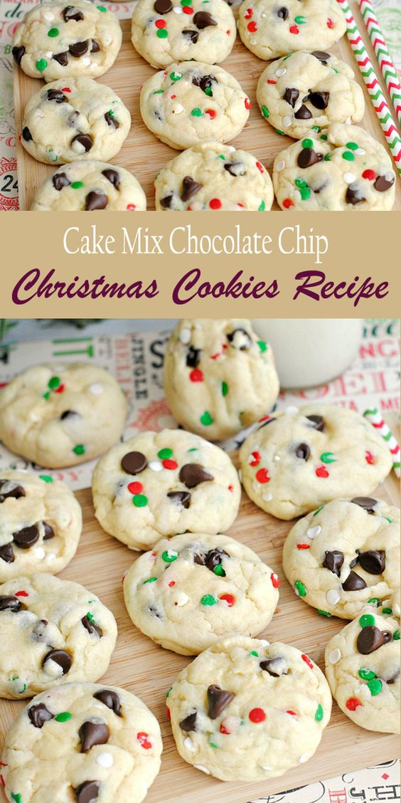 CAKE MIX CHOCOLATE CHIP CHRISTMAS COOKIES RECIPE