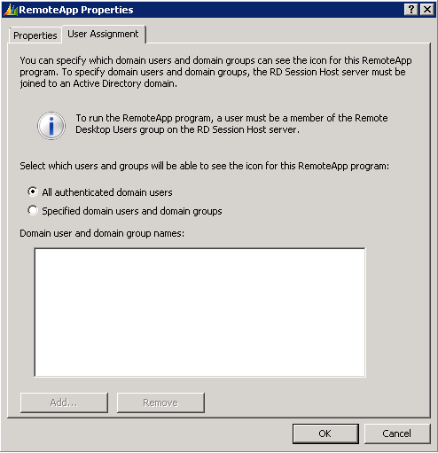 Publish Dynamics AX client as RemoteApp on Remote Desktop