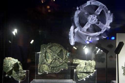 Fragmentos de 2,100 años de edad del Mecanismo de Antikythera, que se cree fue un dispositivo de computación mecánica antiguo.