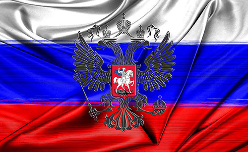Flag and emblem of Russia