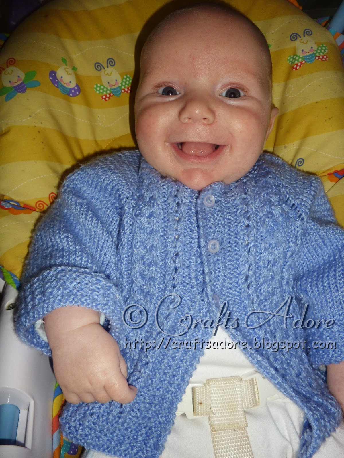 """CraftsAdore: """"Handsome Cables"""" Knitted Baby Boy Cardigan"""