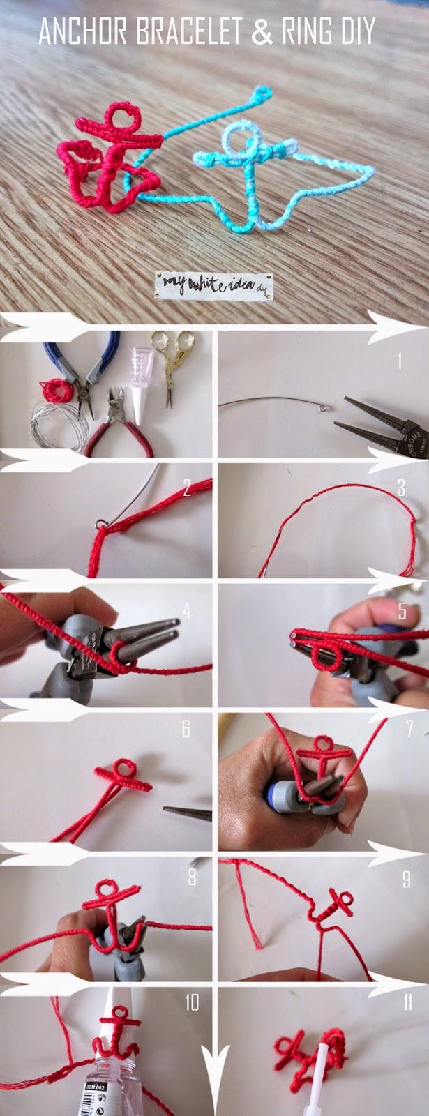 ac0e50313e18 ANCHOR BRACELET   RING DIY