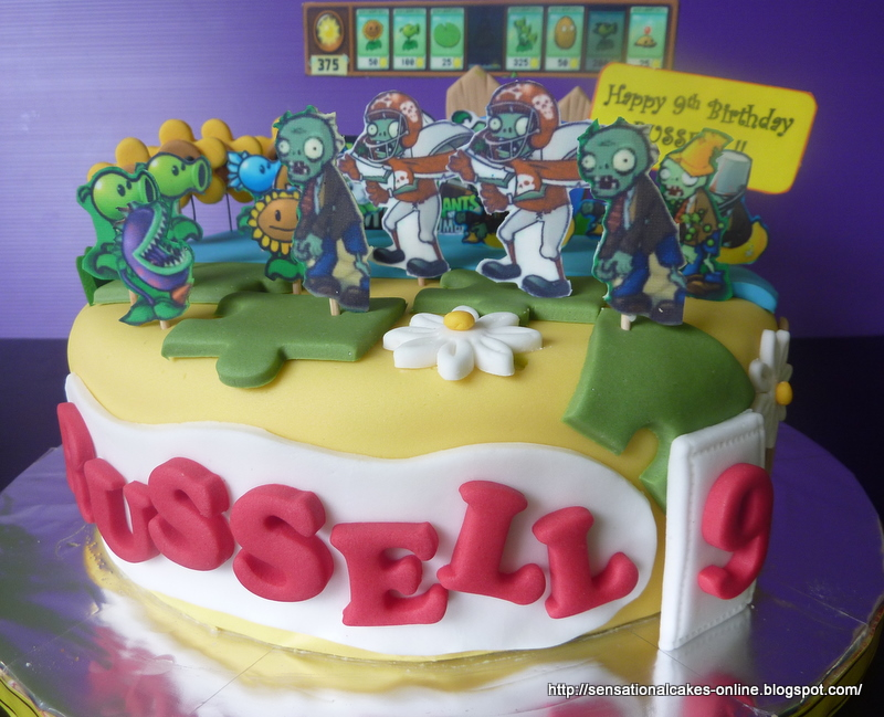 Cakes2share Singapore 3d Pv Zombies Cake For Russell
