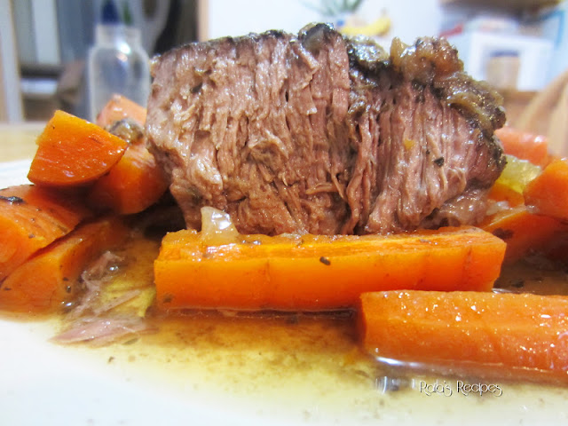 Easy Marinated Slow Cooker Roast with Caramelized Onions by Raia's Recipes
