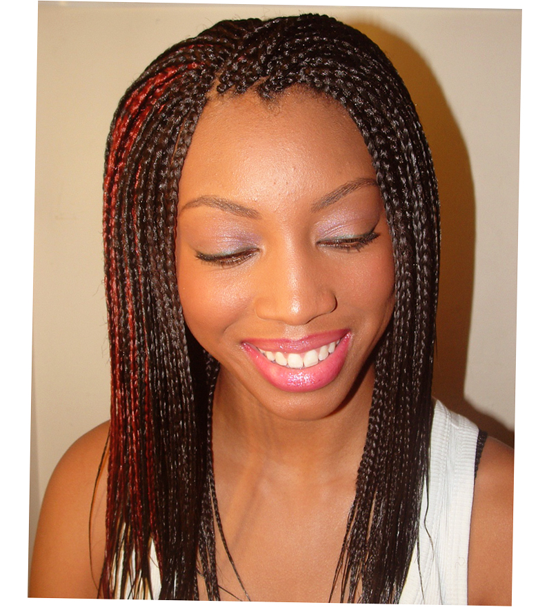 Cute Black Girl French Braid Hairstyles Picture