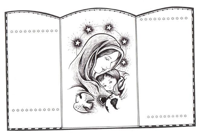 El Rincón de las Melli: Tríptico de Maria y Jesús