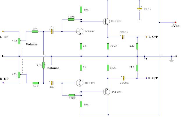 Headphone Amplifier Circuit Diagram
