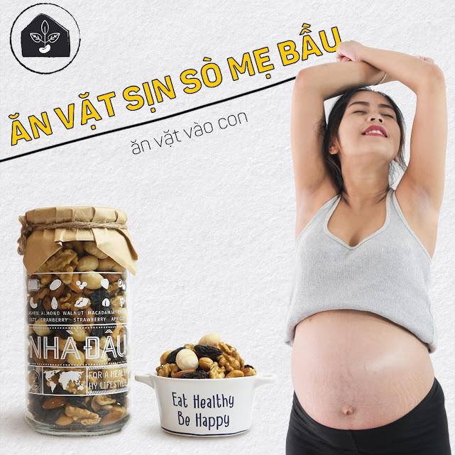 Bữa phụ với hạt dinh dưỡng tốt cho phụ nữ mang thai lần đầu