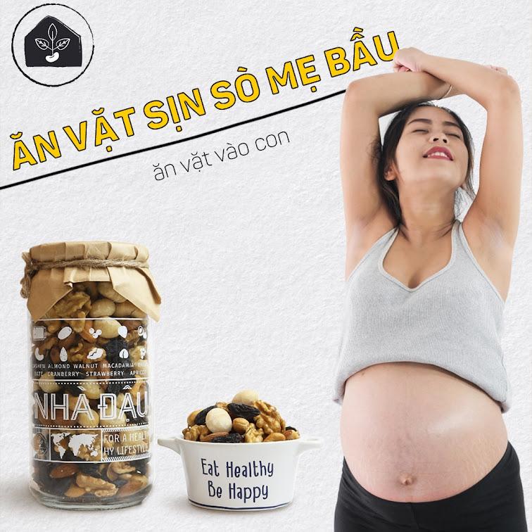 Mách nhỏ bí quyết giúp Mẹ Bầu ăn vặt không tăng cân