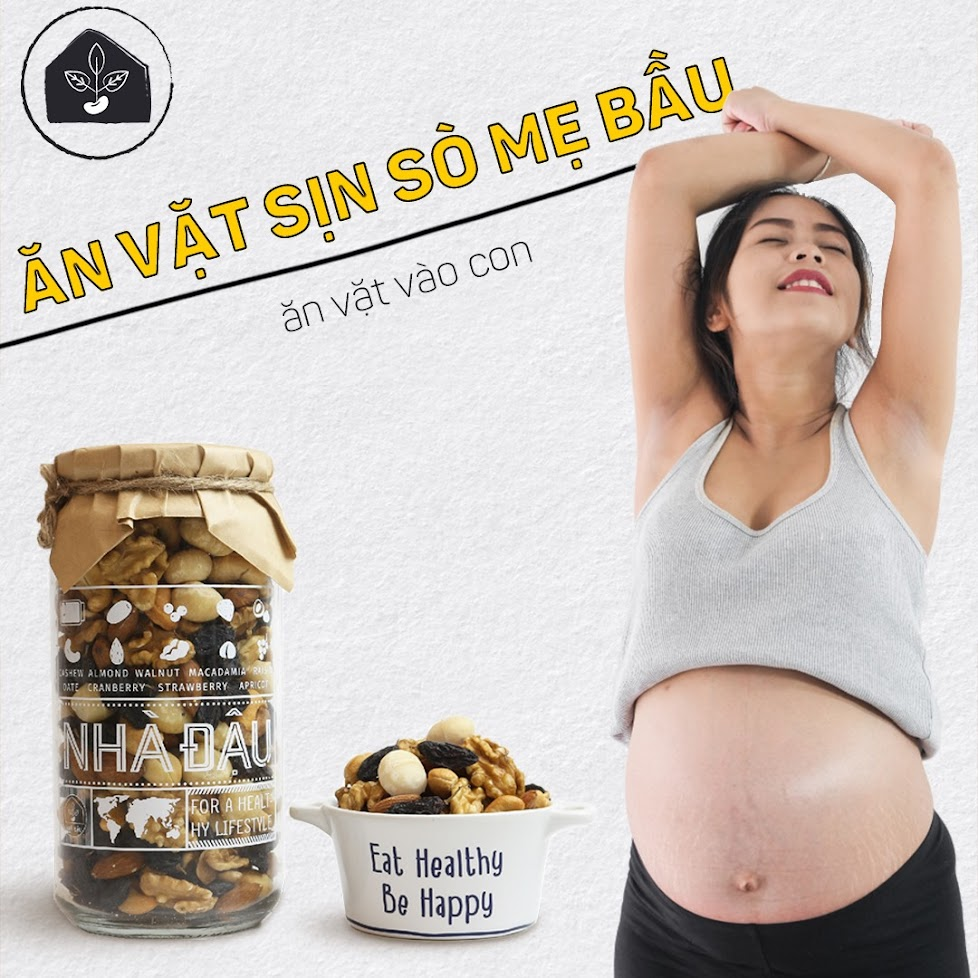 Bữa phụ đủ chất tháng cuối thai kỳ