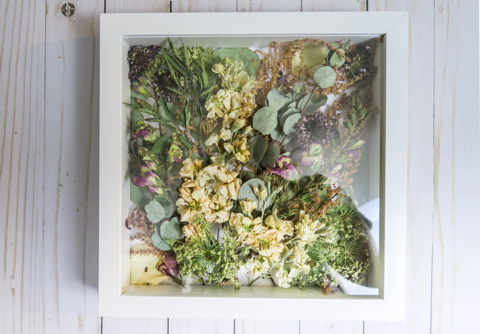 DIY Preserved Wedding Flower Shadowbox | With Love, Katie