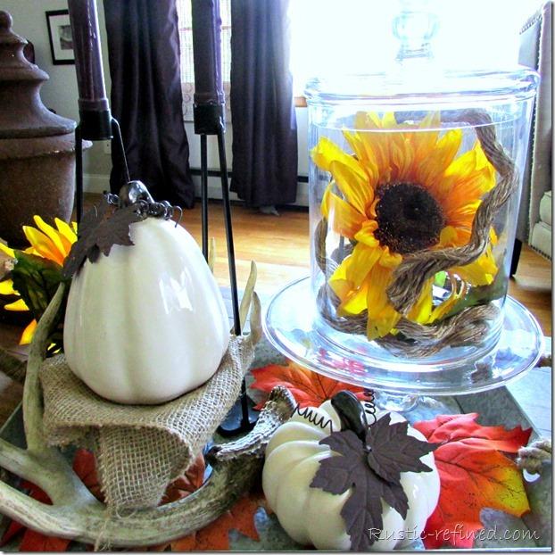 Fall decorating vignettes
