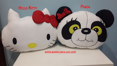 Bantal hello kitty dan panda
