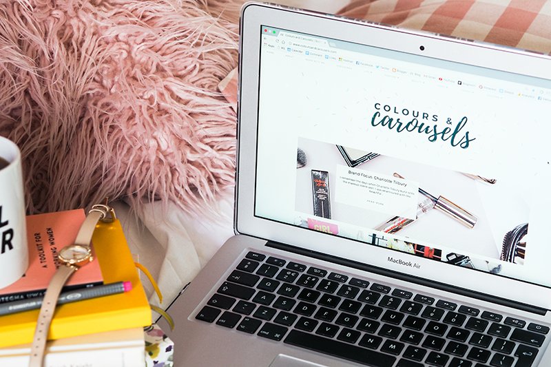 Open laptop | Colours and Carousels - Scottish Lifestyle, Beauty and Fashion Blog