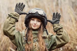 Женщина в танке