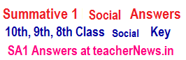 Smmative 3 Social Answers Key Sheet 6th 7th 8th 9th Class SA 3 Principles of Evaluation