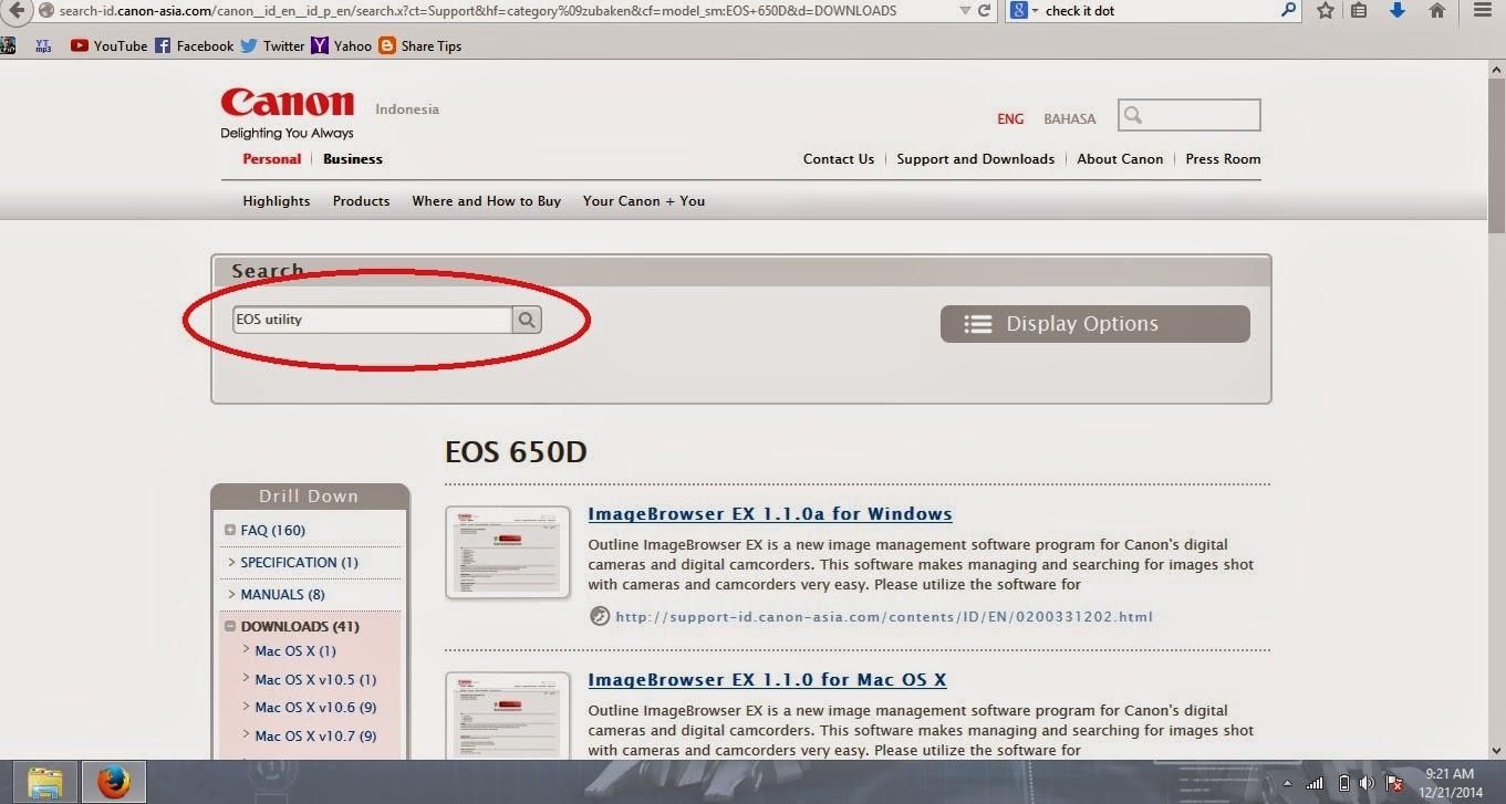 Share Tips: Cara menginstall Eos Utility tanpa CD driver bawaan