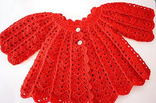Abrigo rojo a crochet 1