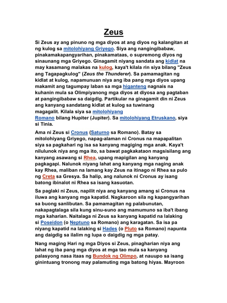 Halimbawa Ng Mitolohiya Philippin News Collections