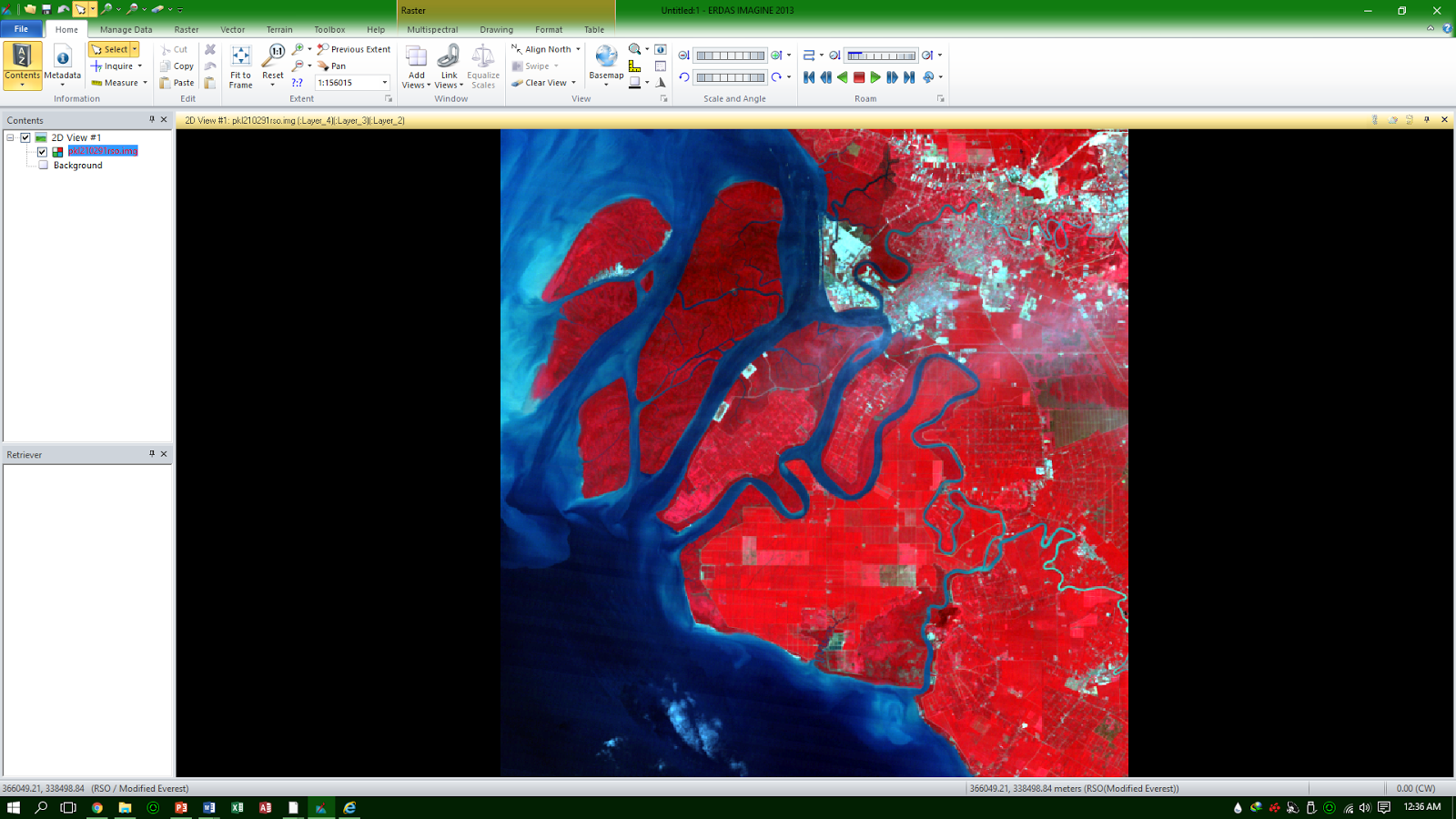 ERDAS IMAGINE is tools application for remote sensing that used raster  data. Ability ERDAS designed to prepare, display and enhance data image.