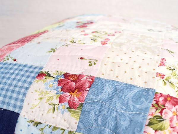Roses on the Vine - Quilted Pillow