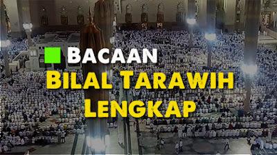 Ini Dia Bacaan Bilal Sholat Tarawih dan Witir Edisi Ramadhan 23 Rakaat Lengkap
