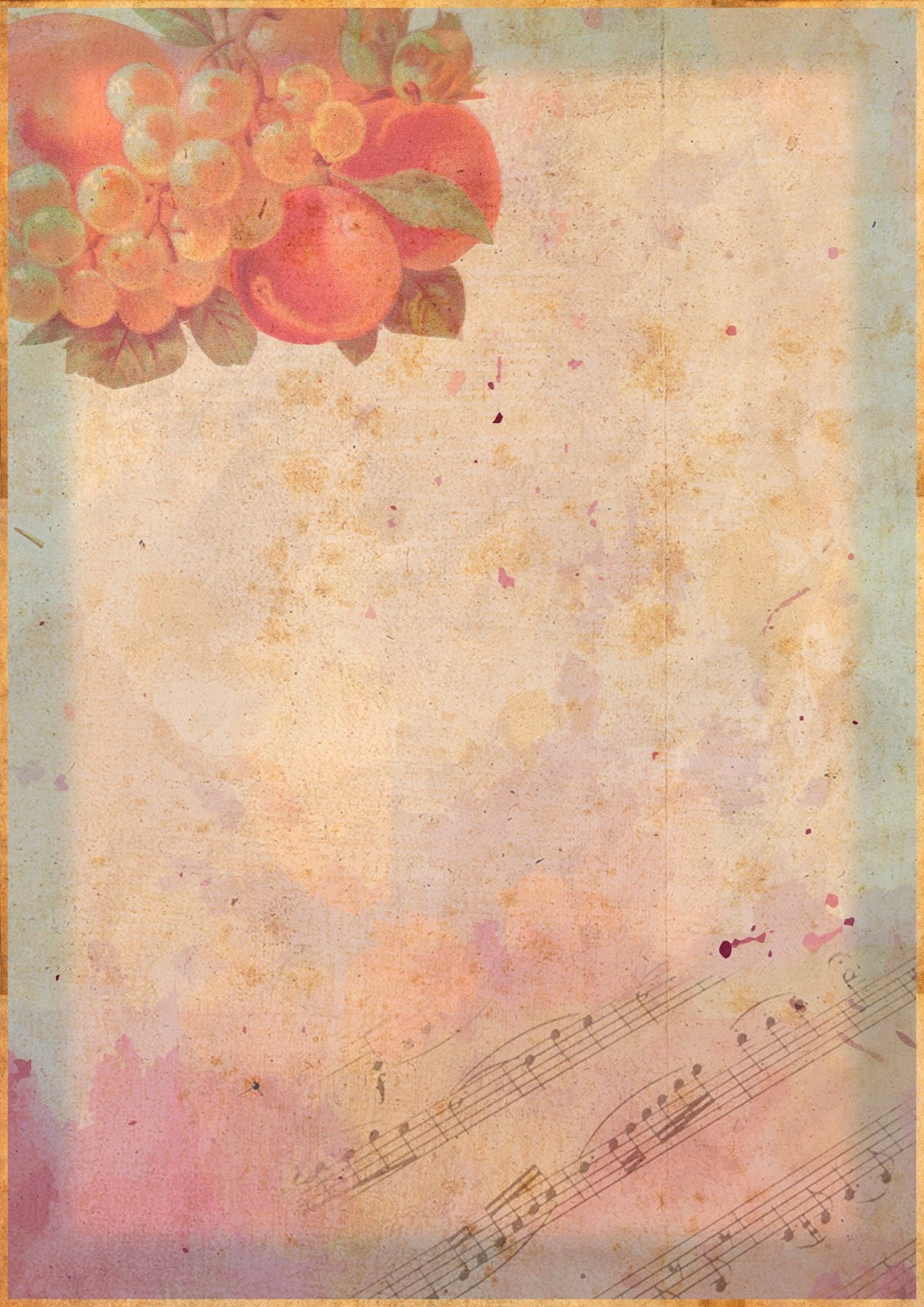 Papel Decorativo Vintage Amor