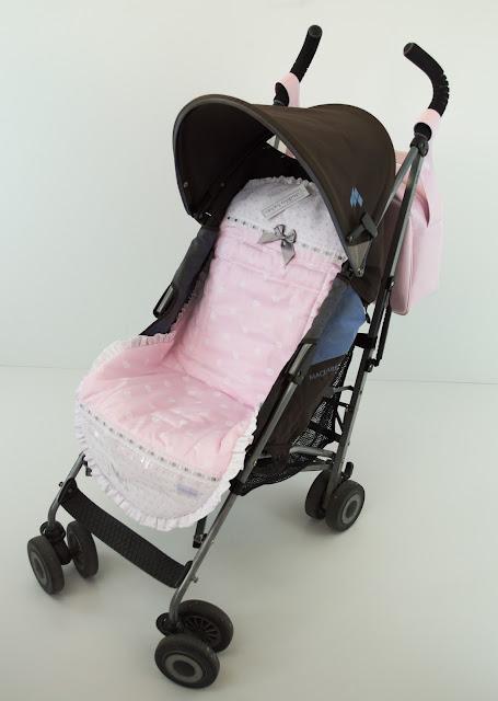 colchoneta de verano Maclaren Quest rosa y gris