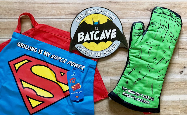 Hallmark Superhero Gifts for Dad - Superman Apron Hulk Mitt Batcave Sign