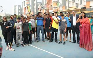 टेनिस खिलाड़ी लिएंडर पेस का मानव रचना ने किया स्वागत