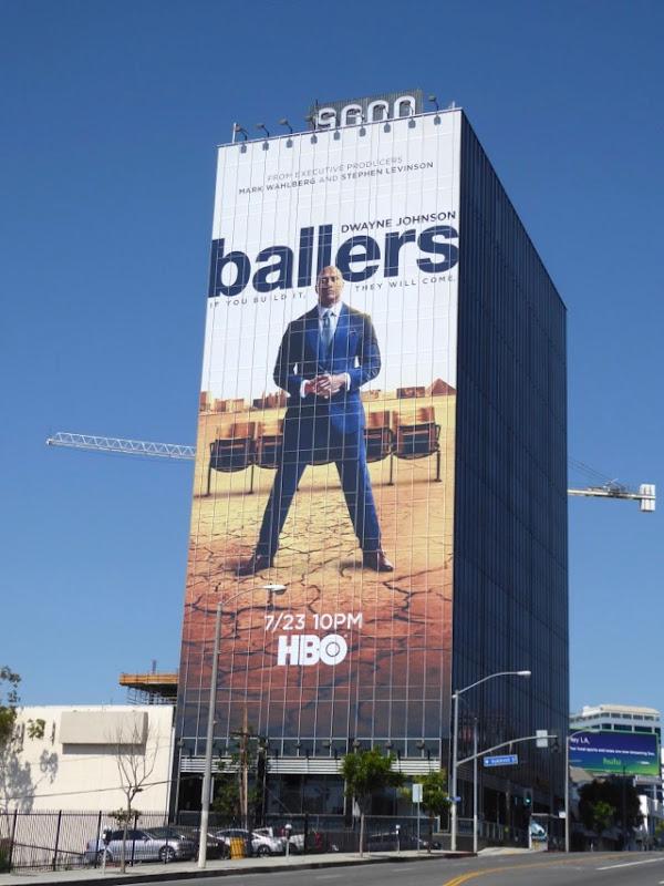Giant Dwayne Johnson Ballers season 3 billboard