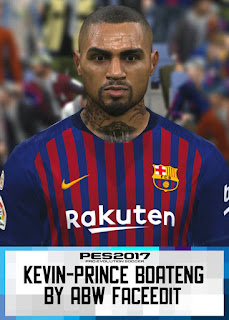 PES 2017 Faces Kevin-Prince Boateng by ABW_FaceEdit