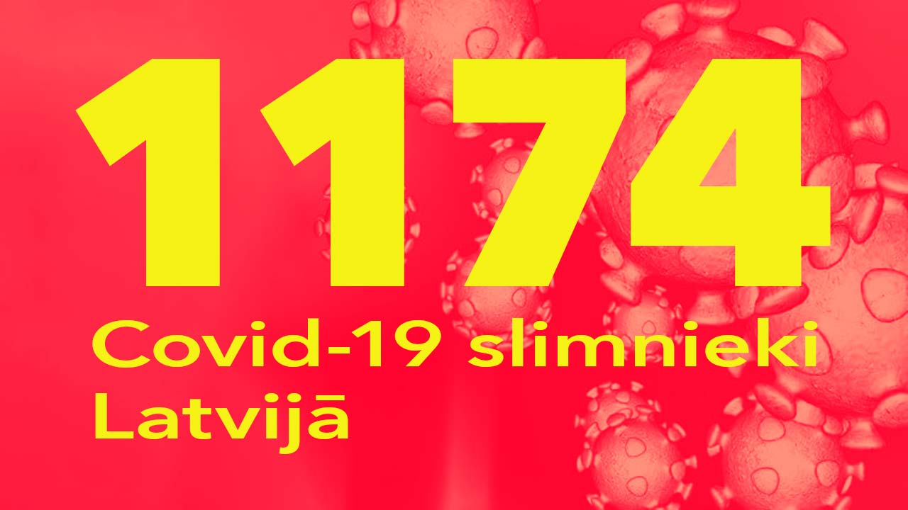 Koronavīrusa saslimušo skaits Latvijā 13.07.2020.