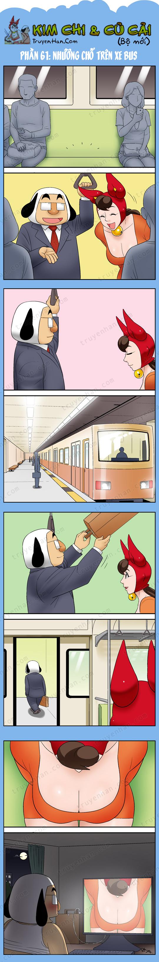 Kim Chi & Củ Cải (bộ mới) phần 61: Nhường chỗ trên xe bus