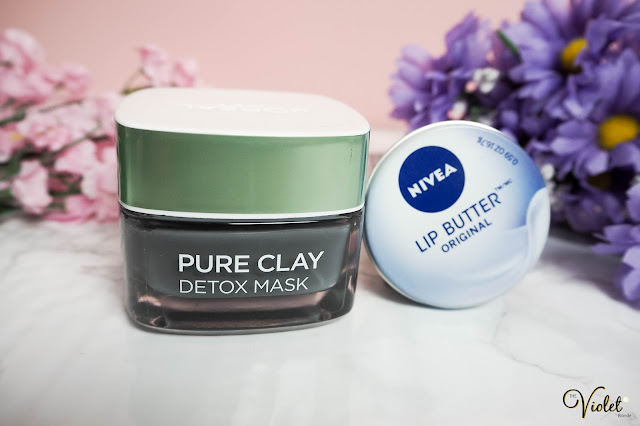 loreal dextox clay mask nivea lip