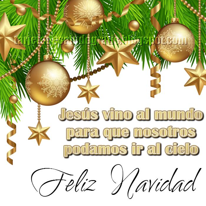 Postal cristiana de Feliz Navidad con mensaje de Jesús
