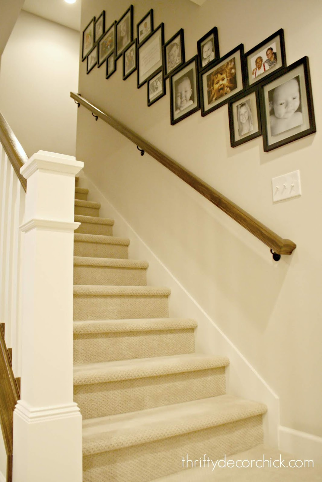 Lighting Basement Washroom Stairs: The Pottery Barn Look For WAY Less From Thrifty Decor Chick