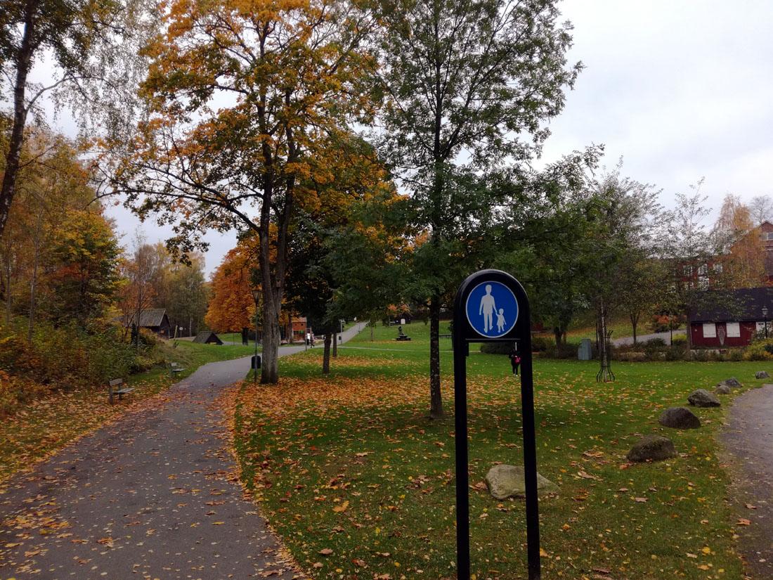Il parco cittadino di Hässleholm oggi