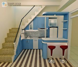kitchen set minimalis rumah kecil di malang