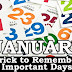 Trick to remember Important Days of a Month (January)