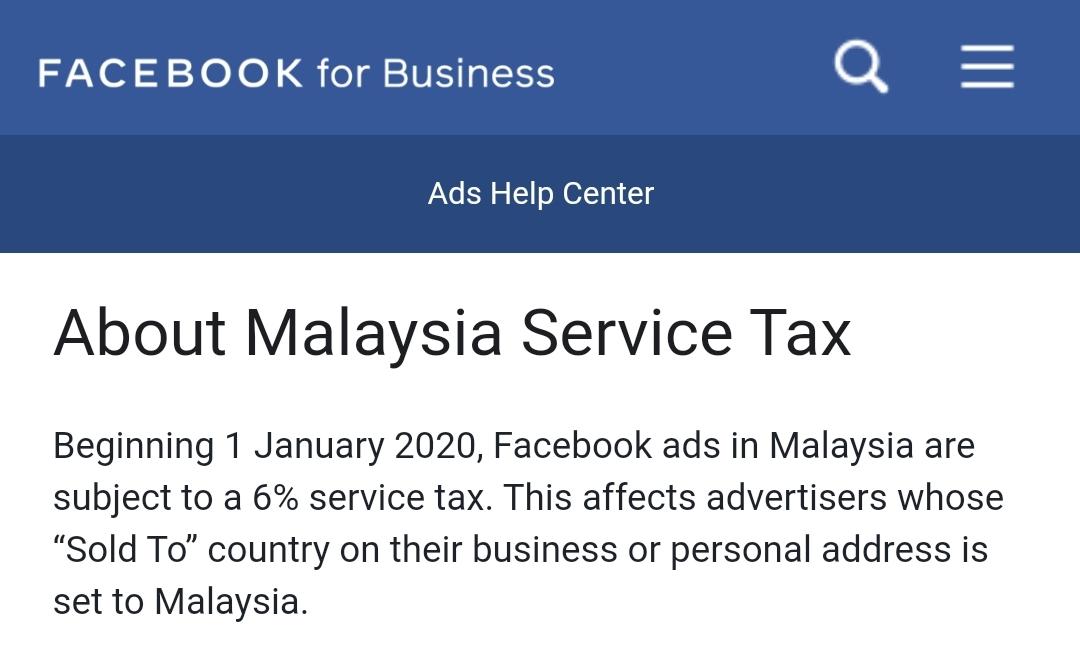 Cukai Facebook Malaysia