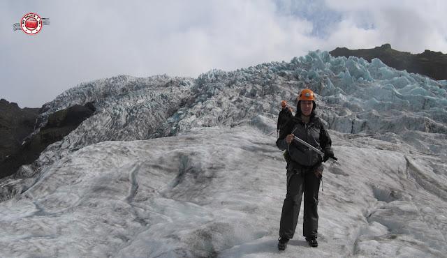 Trekking en glaciar
