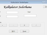 Membuat Kakulator Sederhana dengan VB.Net 2010