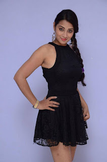 Actress Bhanu Sri Stills in Black Short Dress at Dandu Movie Audio Launch  0008.jpg