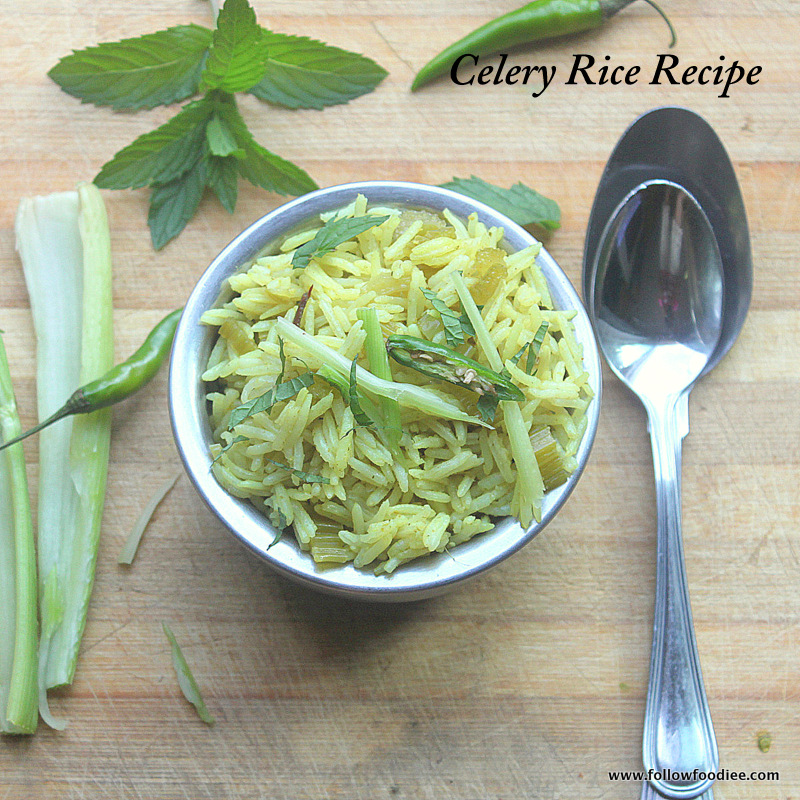 CELERY RICE RECIPE | HOW TO MAKE CELERY PULAO