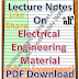 Lecture Notes on Electrical Engineering Material PDF Download