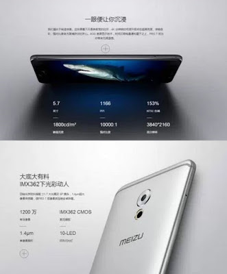 Meizu Pro 7 with Titanium alloy body, 4K display, 10000:1 aspect ratio and a price tag of 550 USD