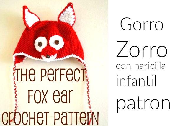 Gorro zorro de crochet con tutorial